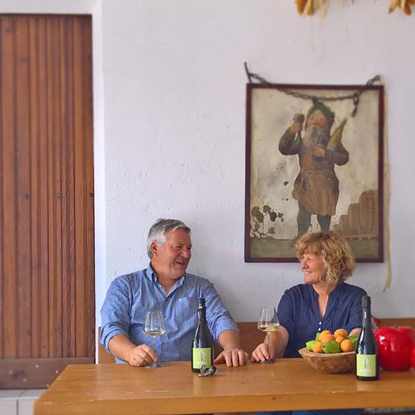 Giorgio und Erna, die Macher von Iduna Cider.